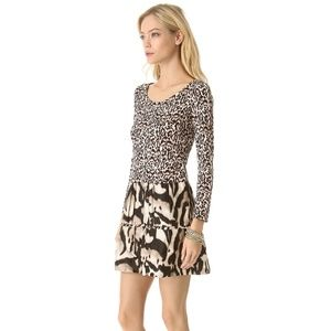Diane Von Furstenberg Kay Animal Print Dress 8